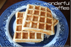 Wonderful Waffles for Supper