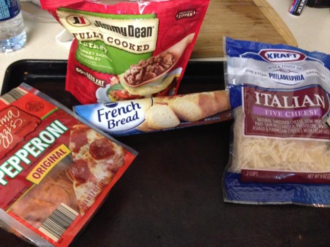 Easy Peasy Pizza Bread Ingredients