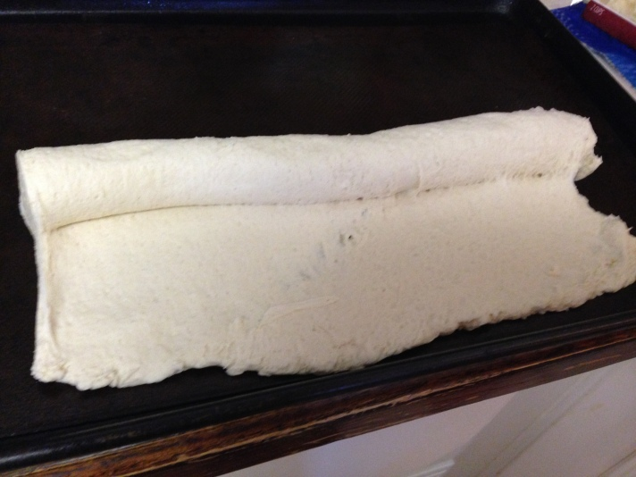 Unrolling the dough